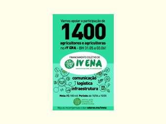 Começa campanha de financiamento coletivo para o IV Encontro Nacional de Agroecologia