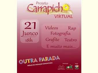 """Jovens do projeto """"Carrapicho Virtual"""" vão expor suas produções para as comunidades do Salitre"""