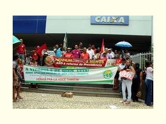 Em Juazeiro, a diversidade de organizações marca manifestação contra a Reforma da Previdência