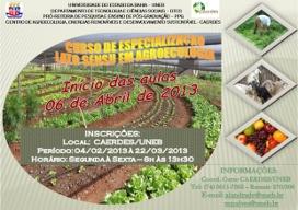 Abertas inscrições para Pós em Agroecologia da UNEB, em Juazeiro (BA)