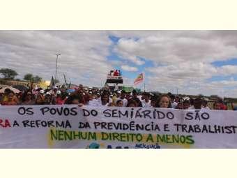 Ato Público em Uauá reafirma a luta de agricultores/as familiares contras as Reformas do Governo Temer