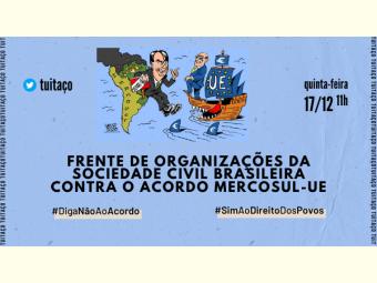 NOTA - Frente de Organizações da Sociedade Civil Brasileira contra o acordo Mercosul-UE