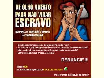 Na semana do 13 de maio, CPT Bahia reforça campanha contra trabalho escravo contemporâneo