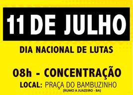 Movimentos Sociais Populares do Vale vão às ruas nesta quinta-feira (11)