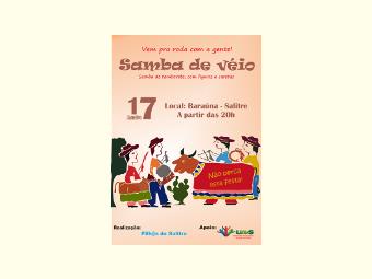 Neste sábado haverá samba de véio e lançamento de jornal no Salitre