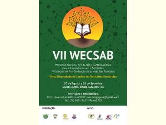 """""""Diversidades e direitos em Territórios Semiáridos"""" é tema de VII Workshop Nacional de Educação Contextualizada na Uneb"""