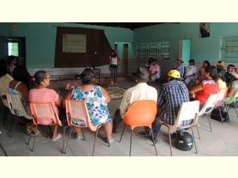 Atividade em Sobradinho estimula o debate da proposta da reforma da previdência social entre agricultores/as