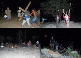 Caatinga é cenário para espetáculo sacro no distrito de Pinhões em Juazeiro