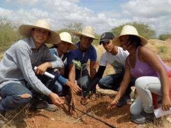 Estudantes da República do Irpaa participam de aula prática na Caatinga
