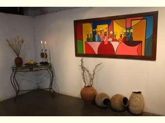 Exposição apresenta trabalho de artistas juazeirense ao tempo em que presta homenagem