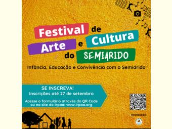 Inscrições abertas para o Festival de Arte e Cultura do Semiárido