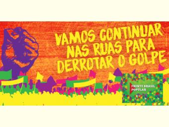 Frente Brasil Popular convoca sociedade juazeirense a ocupar as ruas nesta terça-feira (10)