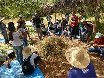Estudantes do Cetep participam de Dia de Campo no Centro de Formação do Irpaa