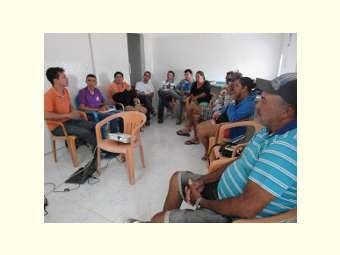 Manejo de Aves � tema de forma��o na comunidade de Canoa em Massaroca
