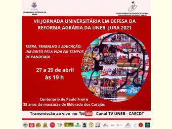 Jornada Universitária em Defesa da Reforma Agrária celebra 100 anos de Paulo Freire e reafirma a luta por direitos