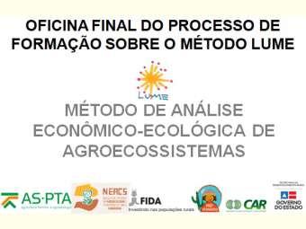 Entidades de Assessoria técnica e extensão rural realizam última formação do método lume