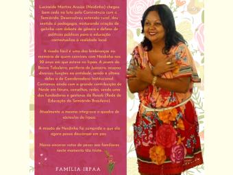 Nota de pesar pelo falecimento de Lucineide Martins (Neidinha)
