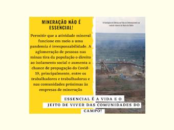 NOTA || Carta denúncia Mineração e Pandemia: essencial é a Vida!