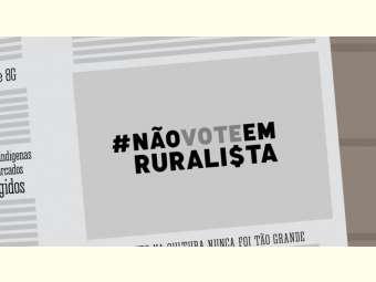 Quem é contra o agrotóxico não vota em ruralista