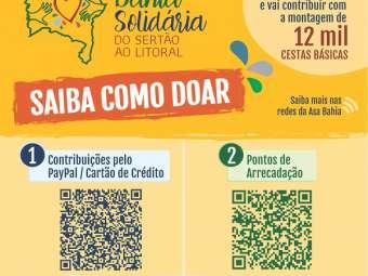 Saiba como doar para a Campanha Bahia Solid�ria