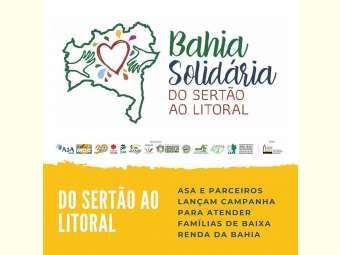 ASA e parceiros lan�am campanha para atender fam�lias de baixa renda da Bahia