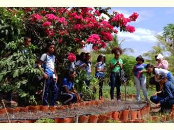 Uma aula multidisciplinar: estudantes e professoras visitam o Centro de Formação Dom José Rodrigues