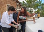 Agricultora recebe ministra do MDS e conta como sua vida mudou com suas cisternas