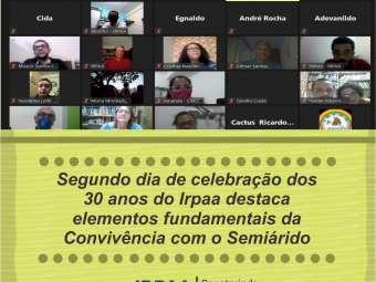 Segundo dia de celebração dos 30 anos do Irpaa destaca elementos fundamentais da Convivência com o Semiárido